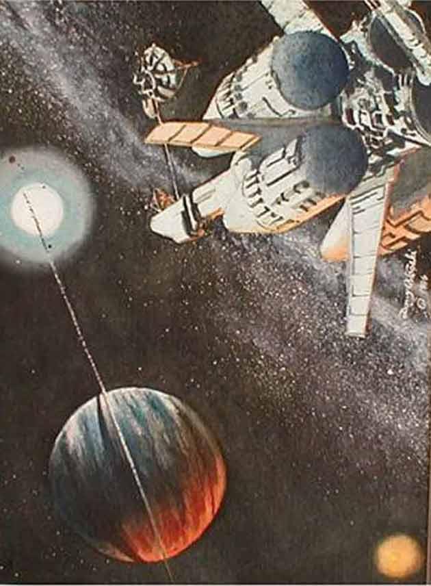 Spaceship mural